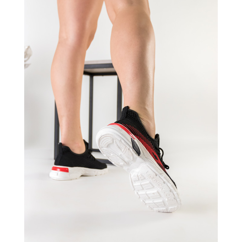 Кросівки жіночі літні чорні на платформі Linda