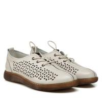 Туфли женские кожаные бежевые на низком ходу Meegocomfort