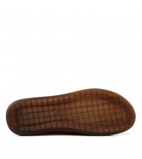 Туфлі жіночі шкіряні бежеві  на низькому ходуMeegocomfort