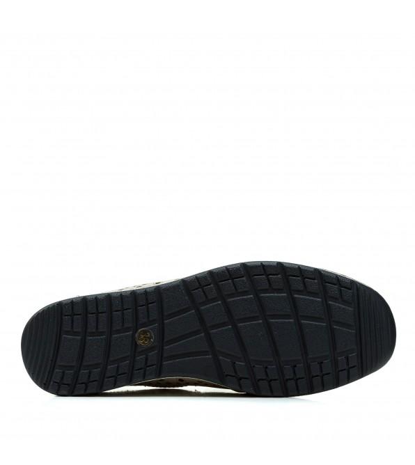 Туфлі жіночі шкіряні  бежеві на танкетці  Meego Comfort