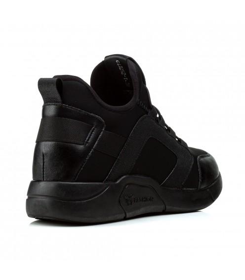 Кросівки жіночі чорні високі на низькому ходу V.I.Konty