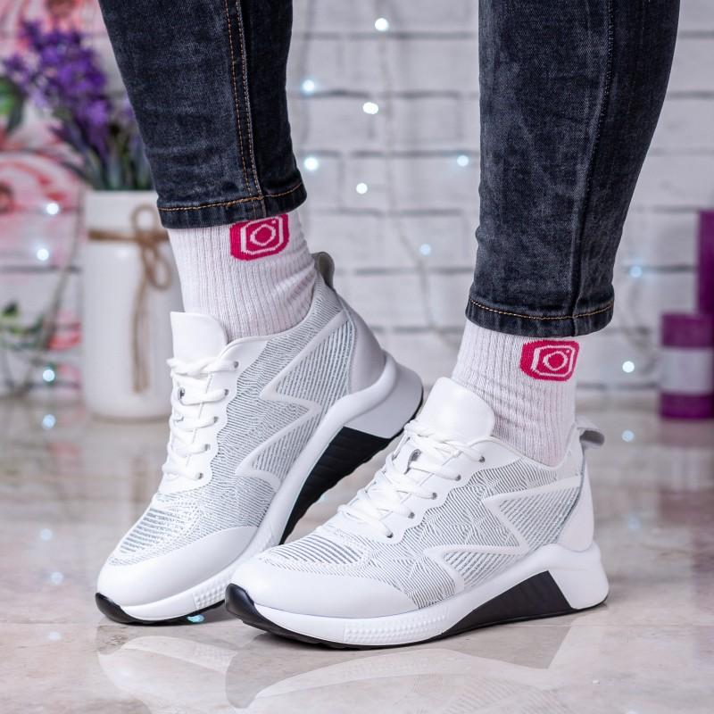 Кросівки жіночі білі на зручній платформі V.I.Konty