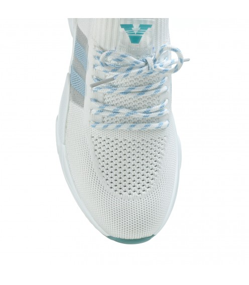 Кросівки жіночі літні білі на високій платформі Vikonty
