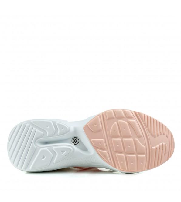 Кросівки жіночі білі на високій підошві спортивні Vikonty