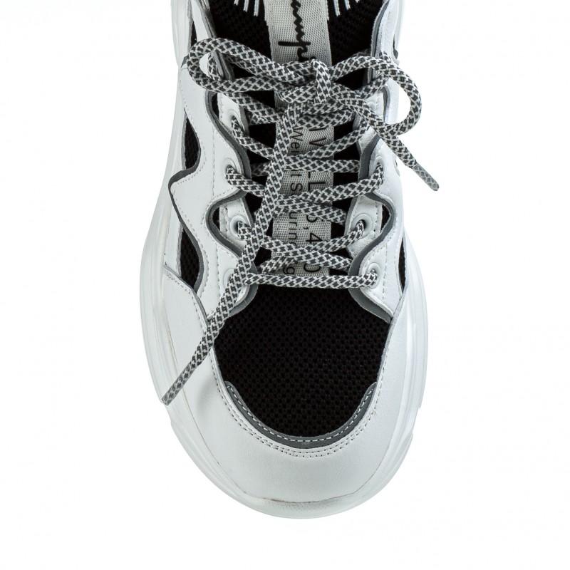 Кросівки жіночі білі на високій платформі V.I.Konty