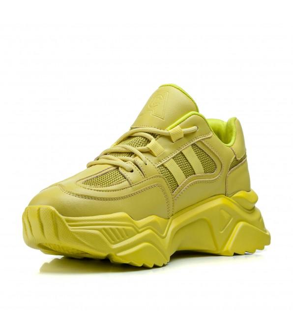 Кросівки жіночі жовті на високій платформі Lifexpert