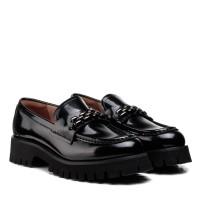Туфли лоферы женские черные кожаные Anemone