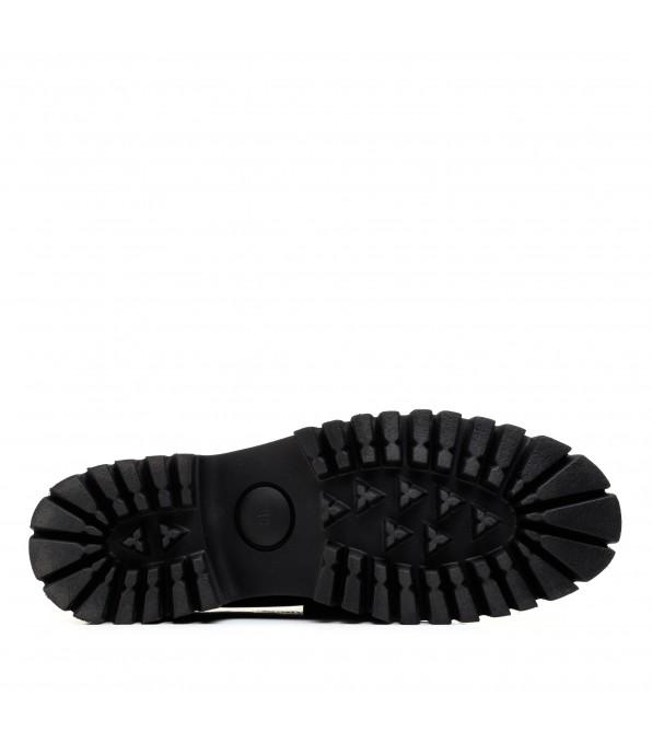 Туфлі лофери жіночі чорні шкіряні Anemone