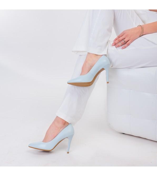 Туфлі шкіряні  класичні човники на високому каблуку Lady marcia