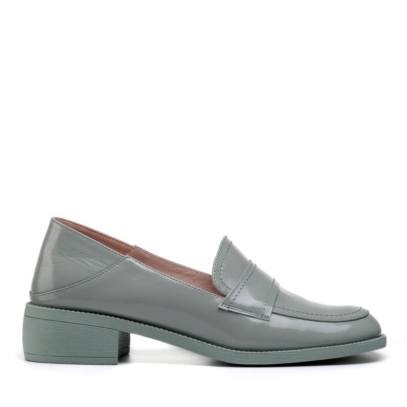 Туфлі шкіряні на широкому низькому каблуку Lady marcia
