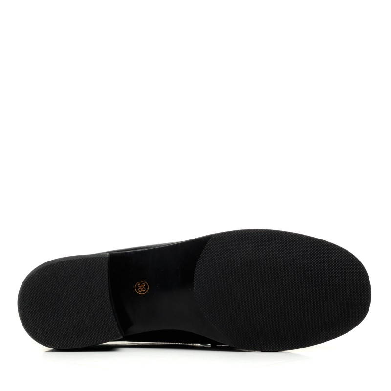 Туфлі шкіряні чорні на низькому ходу Lady marcia
