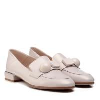 Туфли лоферы женские кожаные на низком каблуке Lady marcia