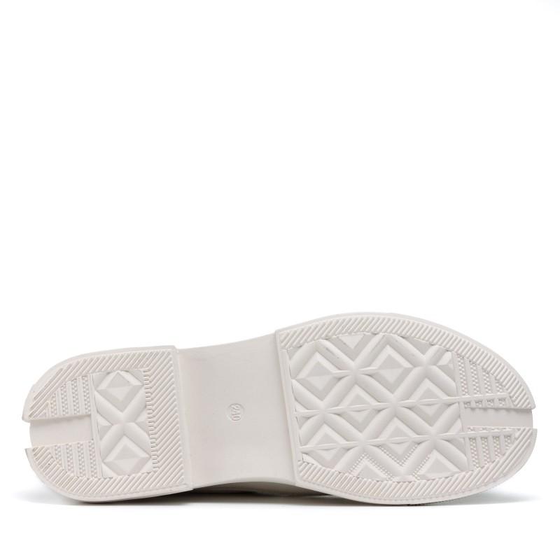 Туфлі шкіряні молочні Berkonty