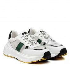 Кроссовки для бега спортивные белые сетка V.I.Konty