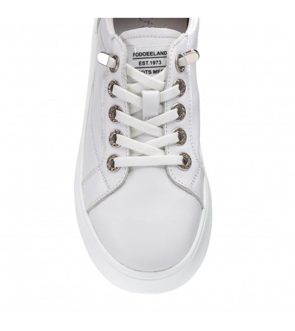 Кеди білі на шнурівках Lifexpert