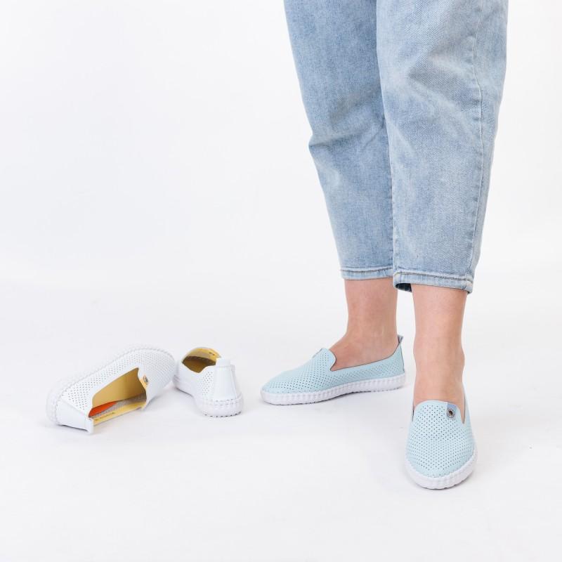 Мокасини жіночі літні блакитні Lifexpert