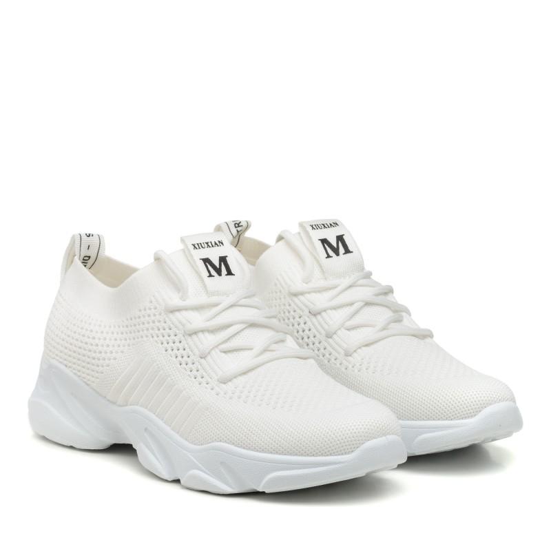 Кросівки текстильні білі Linda