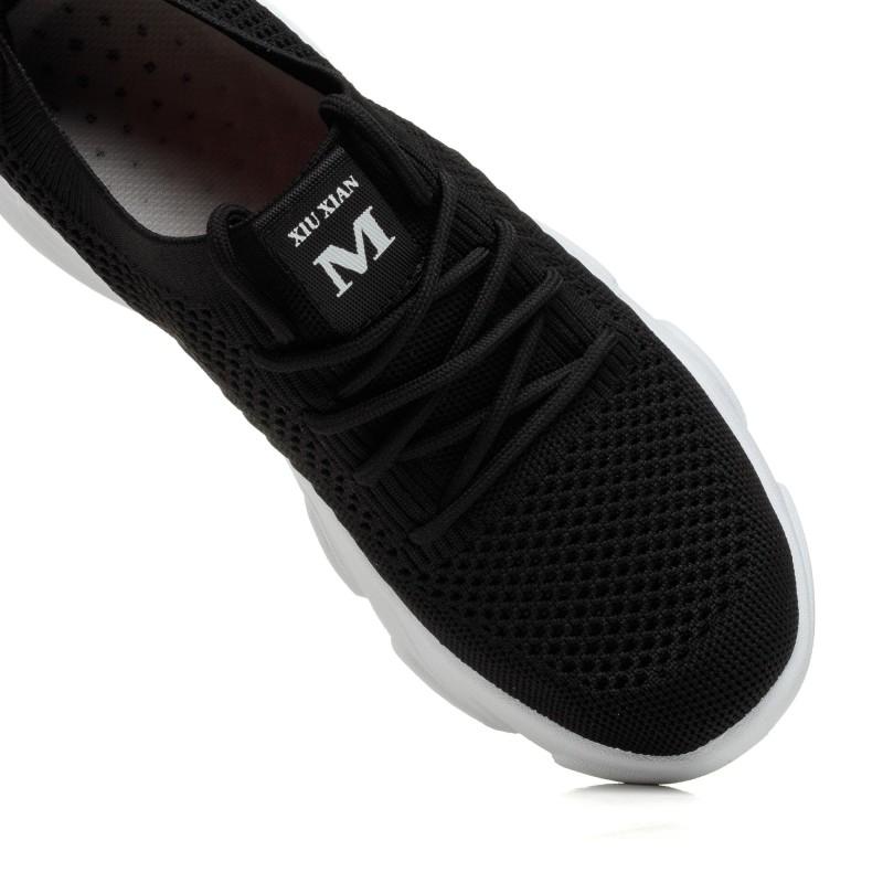 Кросівки текстильні чорні Linda
