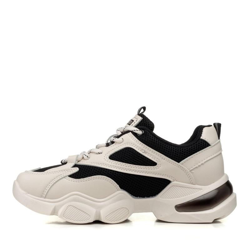 Кроссовки для бега черно-бежевые Linda