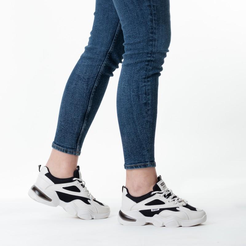 Кросівки для бігу чорно-бежеві Linda