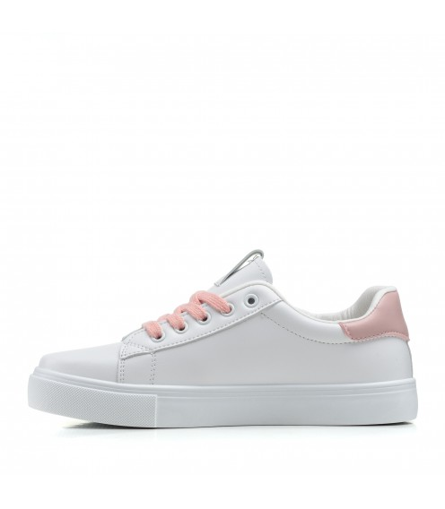 Кеди білі на шнурівках Linda