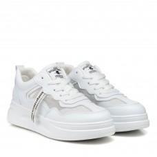 Кроссовки белые на высокой подошве с сеточкой Linda
