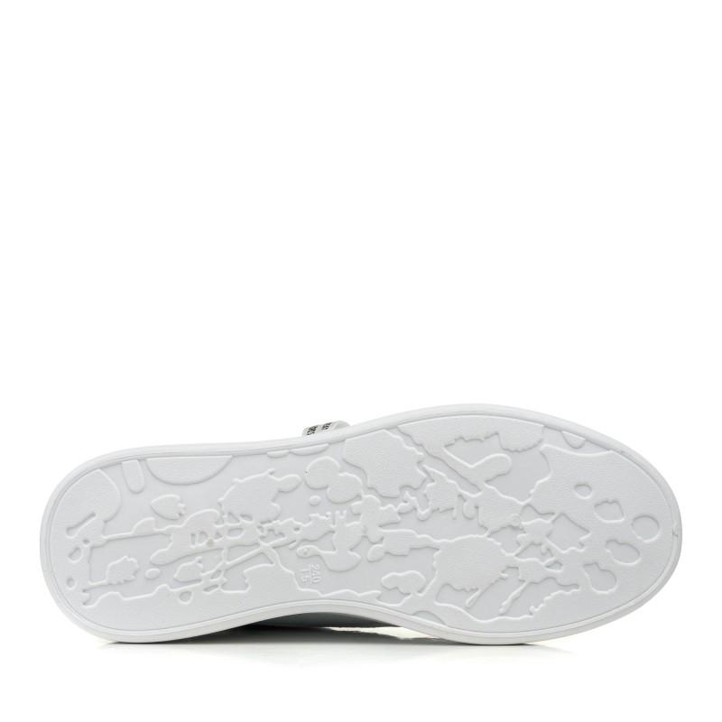 Кеди білі на високій підошві з сіточкою Linda