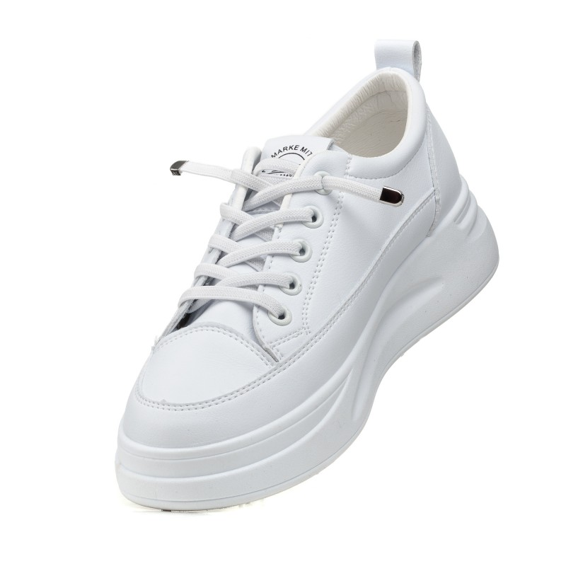 Кросівки білі на платфформі Linda