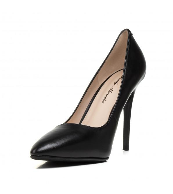 Туфлі човники жіночі шкіряні чорні Lady marcia