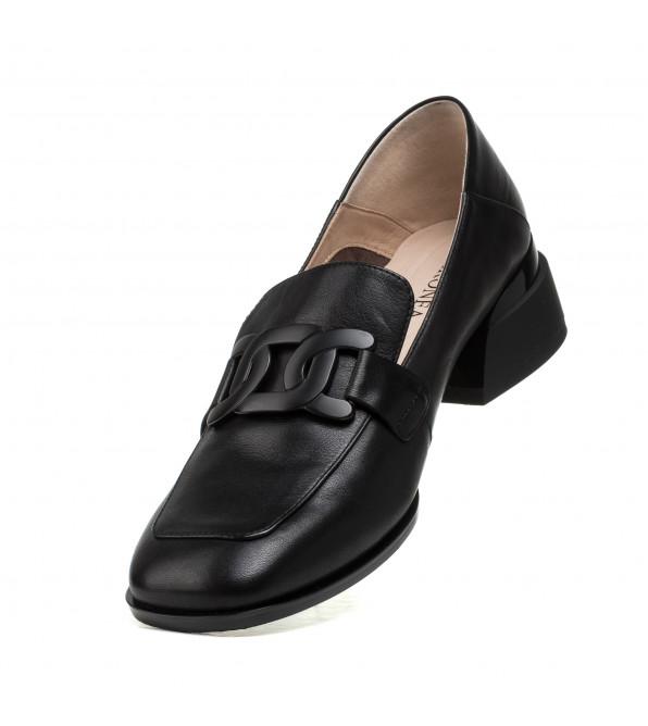 Туфлі жіночі шкіряні на широкому каблуку Geronea