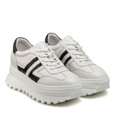 Кросівки жіночі шкіряні  білі Berkonty