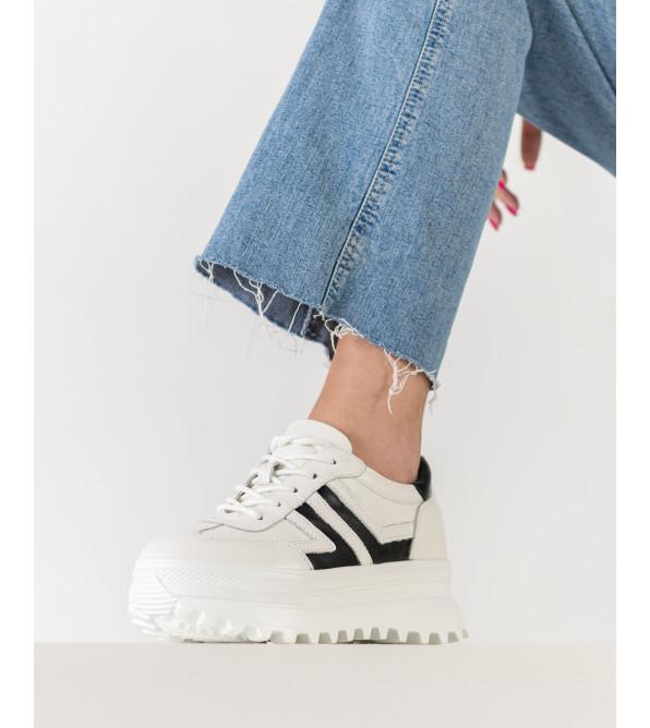Кросівки жіночі шкіряні біліі Berkonty