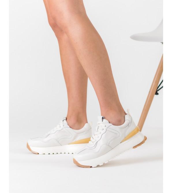 Кроссовки женские белые на платформе Gifanni