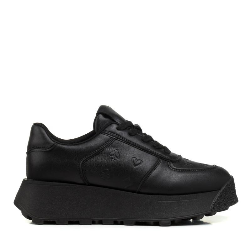 Кросівки жіночі чорні на платформі Lifexpert