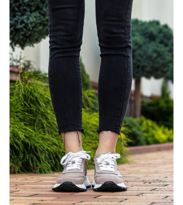 Кросівки жіночі бежеві спортивні Lifexpert