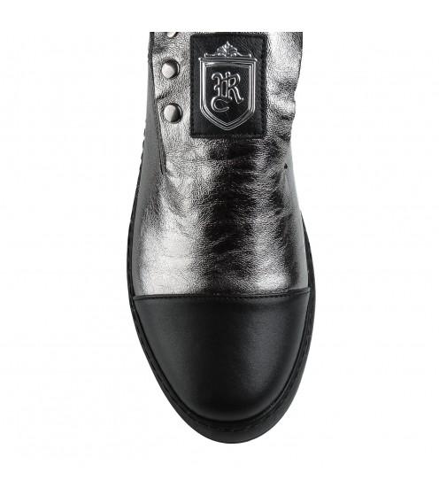 Туфлі жіночі шкіряні бронзові на платформі Evromoda