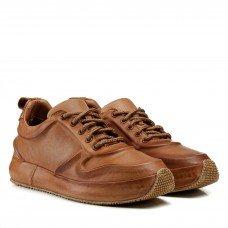 Кроссовки женские кожаные коричневые на платформе