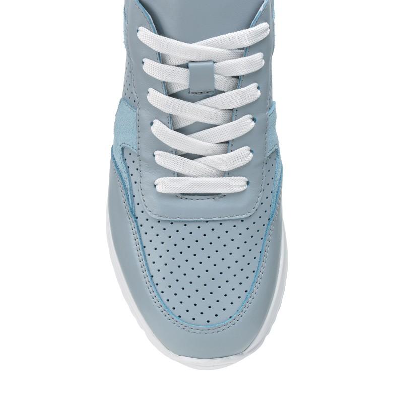 Кросівки жіночі шкіряні блакитні літні atomio lar