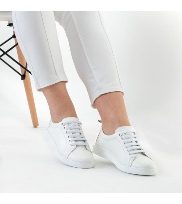 Кеди жіночі шкіряні білі Malin Degely