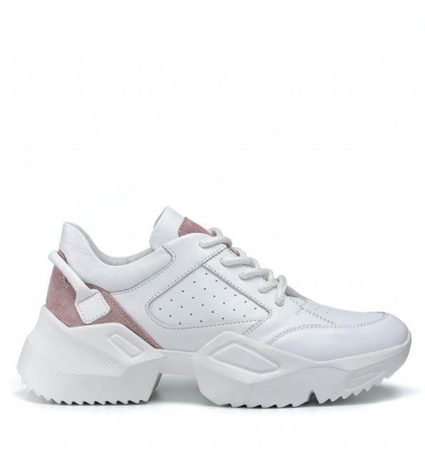 Кросівки жіночі шкіряні спортивні білі