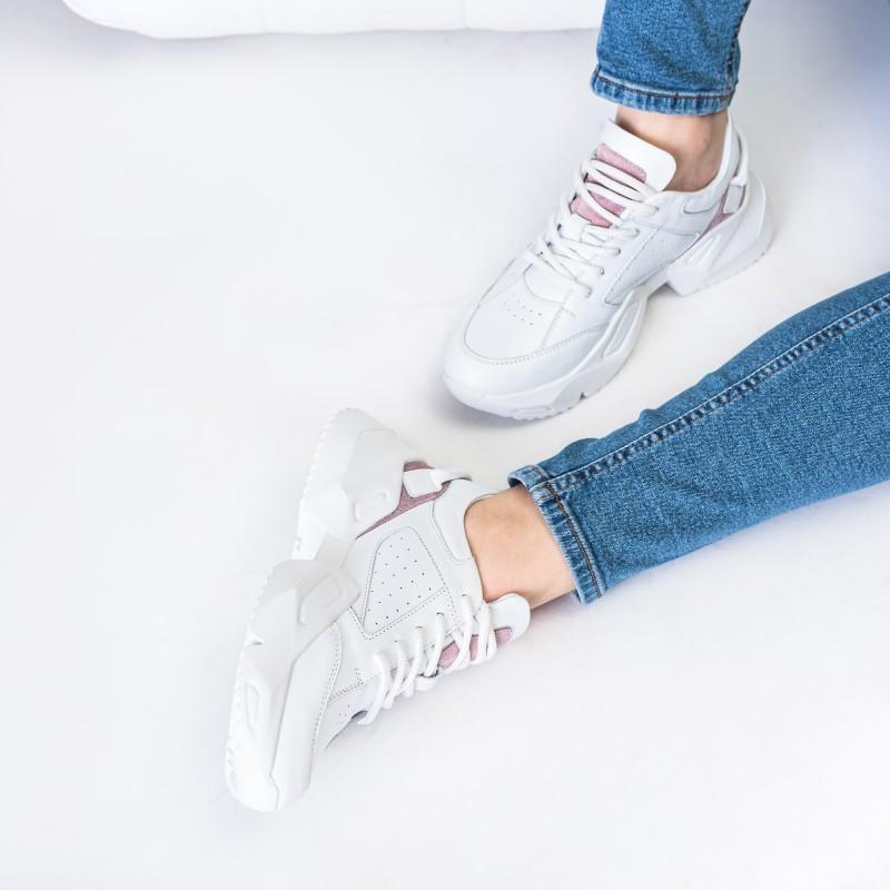 Кросівки жіночі шкіряні спортивні білі Atomio Lardini