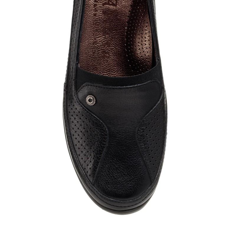 Туфлі жіночі шкіряні на платформі чорні altura