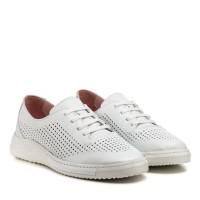 Туфли женские кожаные летние белые altura