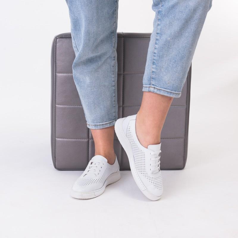 Туфлі жіночі шкіряні літні білі altura