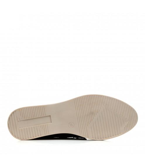 Туфлі замшеві чорні на низькому ходу All shoes
