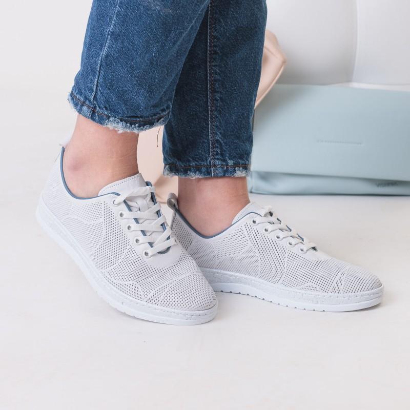 Туфлі жіночі шкіряні білі літні Trio