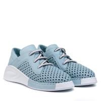 Туфли женские с перфорацией голубые Guero