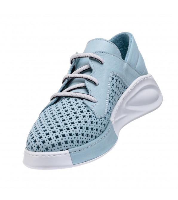 Туфлі жіночі з перфорацією блакитні Guero