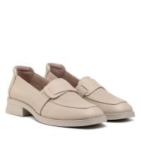 Туфли лоферы женские кожаные на низком каблуке Guero