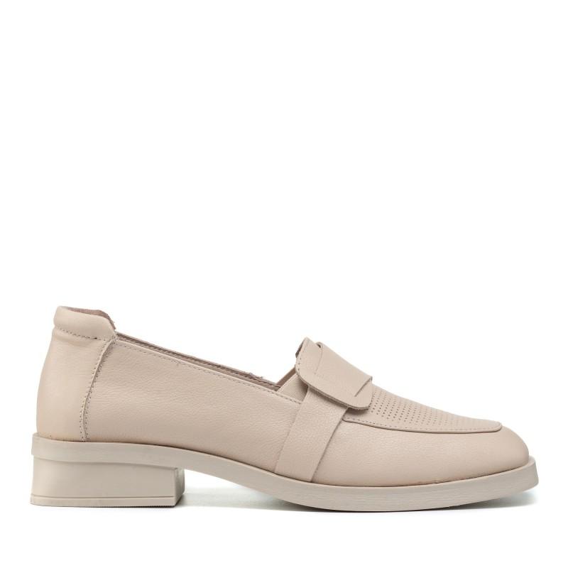 Туфлі - лофери жіночі шкіряні на низькому каблуці Guero